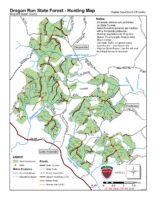 Dragon Run State Forest - Hunting Map