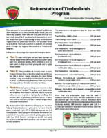 Reforestation of Timberlands Program - Cost Assistance for Growing Pines