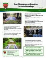 Best Management Practices - Stream Crossings