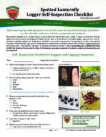 Spotted Lanternfly Logger Self-Inspection Checklist - Slow the Spread!!!