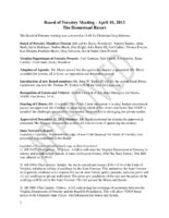 Board of Forestry Meeting Minutes 2013-04-10