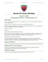 Board of Forestry Meeting Minutes 2015-04-14