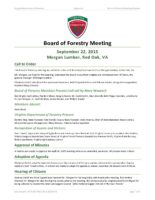 Board of Forestry Meeting Minutes 2015-09-22