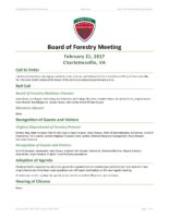 Board of Forestry Meeting Minutes 2017-02-21