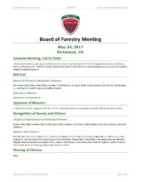 Board of Forestry Meeting Minutes 2017-05-24