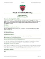 Board of Forestry Meeting Minutes 2018-08-24