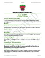 Board of Forestry Meeting Minutes 2019-03-19