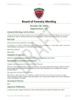 Board of Forestry Meeting Minutes 2020-10-06