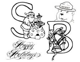 Smokey Bear Happy Holidays Coloring Sheet