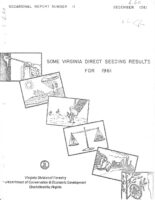 No. 011 Some Virginia Direct Seeding Results for 1961