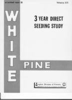 No. 035 A Three-Year White Pine Direct Seeding Study; by T. A. Dierauf and R. L. Marler