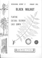 No. 057 Effects of Seedling Size, Herbicides, Fertilizer, and Coppicing on Survival and Growth of Planted Black Walnut Seedlings; by T. A. Dierauf and J. W. Garner