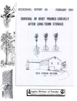 No. 064 Survival of Root-Pruned Loblolly Pine Seedlings ALong-Term Cold Storage; by T. A. Dierauf