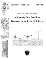 No. 071 Survival and Growth of Loblolly Pine Seedlings Damaged by an Early Hail Storm; by T. A. Dierauf, R. S. Jenkins, and D. L. Hixson