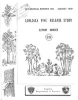 No. 100 Loblolly Pine Release Study Report No. 25; by T. A. Dierauf