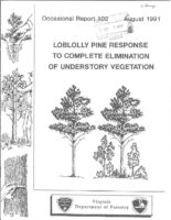 No. 102 Loblolly Pine Release Response to Complete Elimination of Understory Vegetation; by T. A. Dierauf